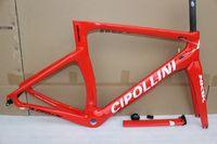 karbon fiber bisiklet bisiklet kulaklığı toptan satış-Kırmızı beyaz NK1K cipollini çerçeve karbon yol bisikleti çerçeveleri 2019 yarış bisiklet çerçeve karbon fiber bisiklet çerçeve, çatal, seatpost, kulaklık, kelepçe