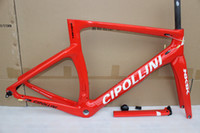Wholesale carbon bike frame cipollini - Red white NK1K cipollini frame carbon road bike frames 2016 racing bicycle frame carbon fiber bike frame, fork, seatpost, headset, clamp