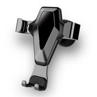 suporte universal de smartphone venda por atacado-Suporte do telefone do carro da gravidade, suporte universal do suporte do telefone de Mobil da montagem do respiradouro de ar do aperto de ROCK Smartphone para o carro
