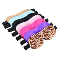 augenschatten zum schlafen großhandel-Schlafmaske 3D natürliche Schlafaugenmaske Augenabdeckung Schatten Travel Eyepatch 7 farbe für wählen dhl-freies verschiffen