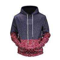смешные hoodies освобождают перевозку груза оптовых-Мода высокого качества цветочные шить 3D печатных Мужские толстовки с капюшоном смешные дизайн шнурок толстовки человек бесплатная доставка