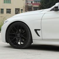 fender vent aufkleber großhandel-Seitenrand Racing Grills Kotflügel Belüftungsöffnungen dekorieren Cover Trim Aufkleber für BMW F30 318I 320I 328I 330I Außenzubehör