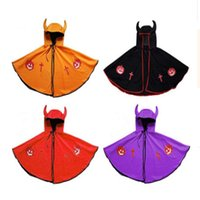 e4cadb9fd4b3b0 2018 Halloween Cosplay Cape devil cape performance Costume Cap Wizard Witch Hat  Party Cosplay Props Clear Hats for Kids Clacks