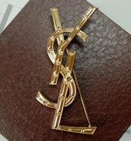 accesorios de corsage de oro al por mayor-High-end 18 K Gold Broche Pins Brand Ys Diseñador Corsage Bufanda Buckle Mujeres Chica Joyería de la boda Broche Pins Suit Shirt accesorios