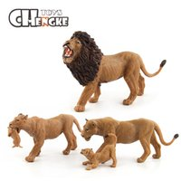 Wholesale handicrafts children - Plastic Lion Models Children Wildlife Animal Model Toy Handicraft Toys Gift For Kids Learning Educational Gifts Collections
