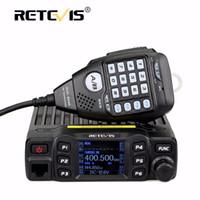Wholesale radio vhf uhf car online - Full Alloy Body Retevis RT95 Dual Band Mobile Car Radio Walkie Talkie W VHF UHF CH DTMF CTCSS DCS Speaker MIC Program Cable