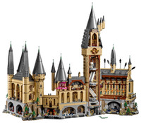Wholesale brick building castle toy for sale - Group buy Harry Magic Potter Hogwarts Castle Compatible ing Building Blocks Bricks Kids Educational Toys For Children