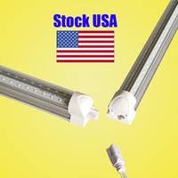 Wholesale t8 tube light price for sale - T8 Tube LED V Shape Integrate ft ft ft ft Double Side Power LED Tube Factory Price Cooler Door Lighting SMD2835 LM W