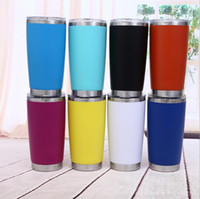 Wholesale metal lids - 600ml New Arrived Sliver Metal Insulated Travel Mug Water Bottle Beer Coffee Mugs with Lid for Car Cups Coffee cup Drinkware