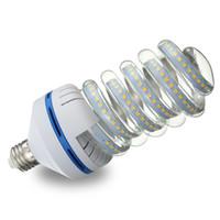 lâmpada de luz espiral venda por atacado-2835 SMD DIODO EMISSOR de Luz Lâmpada E27 5W-36W Ultra Brilhante Lâmpada de Economia de Energia Espiral Lâmpada Pura Branco Quente Não-Regulável 86-245 V