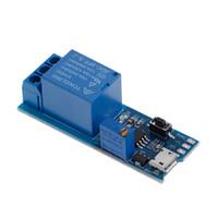 módulo de relé de potencia al por mayor-Venta caliente 5 V-30 V Retardo Retransmisión Temporizador Módulo Interruptor Interruptor Micro USB Herramienta de alimentación Nuevo 2017
