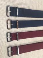 relojes de pulsera de color rojo al por mayor-Correa de nylon de Daniel 2018 última correa de nylon azul roja Correa de reloj de 18MM 20MM de los hombres para mujeres Reloj DW