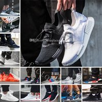 Wholesale Running Tri - Cheap NMD R1 Japan Pack Tri-Color Triple Black Triple White Red Tri-Color R2 Primeknit Running Shoes for men sneakers Women Men NMDS boost