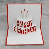 costume feliz aniversário venda por atacado-Novos Cartões De Saudação 3D Pop Up FELIZ ANIVERSÁRIO Carta Artesanal Cartões Personalizados Presentes de Festa de Aniversário Lembranças Cartões Postais
