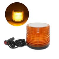 ingrosso luci girevoli gialle-30 LED luce di emergenza auto ruotare luci stroboscopiche LED SMD3528 luce di avvertimento flash per veicoli 12-24V (giallo)