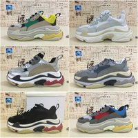 Wholesale Thick Sole Casual Black Shoes - 2018 Best Luxury Triple-S Designer Low Sneakers Thick soles Boots Men Women Running Shoes Top Quality Sports casual Shoes