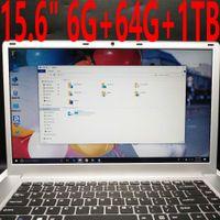 18 laptop porzellan großhandel-15.6 Zoll 1920x1080 FHD Schirm Ultradünner Laptop Intel Apollo See N3450 1.1-2.2 GHz Viererkabel Kern 6GB RAM 500GB 1TB HDD Netbook wifi Windows 10