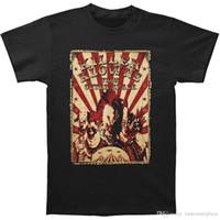 erkek ince tişörtleri toptan satış-Dış Uzay Men's Circus Flyer gelen Katil Klowns Slim Fit T-Shirt Siyah T Gömlek Erkekler Erkek Çılgın Beyaz Kısa Kollu Özel Büyük Boy