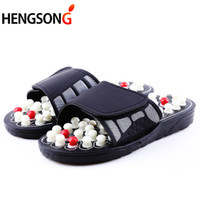 ingrosso terapia di massaggio medico-Acupoint Massage Slippers Sandal For Men Feet Chinese Acupressure Therapy Medical Massaggiatore rotante del piede Scarpe Unisex