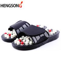 a97ea14ed Chinelos Massagem Acupoint Sandália Para Os Pés Dos Homens Acupuntura  Chinesa Terapia Rotação Médica Massageador Pé Sapatos Unissex
