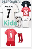 89126da79 2018 2019 Real Madrid Kids soccer jersey kit 18 19 RONALDO BENZEMA ISCO  BALE ASENSIO MODRIC youth jerseys home child Football shirt uniforms