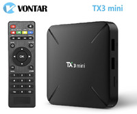 Wholesale android tv box play store online - TX3 Mini Android TV BOX GB16GB Amlogic S905W Google Play Store Netflix Media Player smart TV box X96 mini
