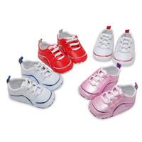ingrosso scarpe da passeggio per bambini-2018 Infant Baby Shoes Mocassini PU Leather Neonato Prima passeggiata Scarpe Kids Girl Boy Prewalker Calzature Primavera / Autunno