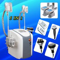 Wholesale liposuction vacuum - Ultrasonic Liposuction Cavitation Rf Slimming cryo vacuum Fat Freezing Machine Lipo Laser Cellulite slimming machine lipolaser ultrasound CE