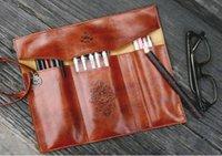 ferrulen-kit großhandel-1pc Kupfer Ferrule Make-Up Tasche für Make-up Kosmetische Tool Kit mit Tasche Top-Qualität Kosmetiktaschen Cases Professional