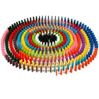magic sphäre puzzle großhandel-120 teile / satz Kinder Farbe Sortieren Regenbogen Holz Domino Blocks Kits Frühen Hellen Domino Spiele Lernspielzeug Für Kinder