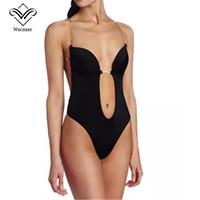 бюстгальтеры для платья оптовых-Bralette Push up Bras for Women Sexy Backless Bra Plunge Bras Thong Invisible Bra for Dress Clear Strap Brassiere