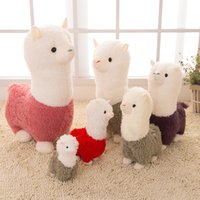 Wholesale Japanese Child Dolls - Kawaii Rainbow Alpaca Plush Doll Toys Cute Llama Alpacasso Stuffed Toys Japanese Stuffed Animals Doll Children Kids Gift OTH893