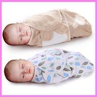 Wholesale Kangaroo Baby Bag - Summer Cotton Newborn Baby Anti Startle Sleeping Bag Coverlet Sleep Sack Kangaroo Carrier Baby Wrap Swaddle Envelopes Flannel