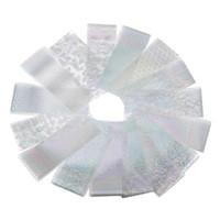 ingrosso carta da stampa d'acqua-16pcs / set gel UV per manicure laser stecchini per unghie argento cielo stellato carta fai da te trasferimento ad acqua stampa paster strumenti per unghie di bellezza