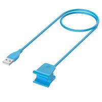 ingrosso cavo blu usb-Cavo di ricarica USB per Smartwatch Smart Band Solo per Fit Bit Smart Watch Cavo di ricarica HR (blu)
