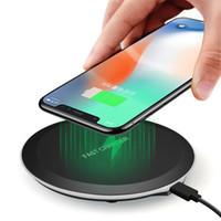 qi charger оптовых-10 Вт Ци беспроводное зарядное устройство для iPhone 8 х 10 для Samsung Galaxy S8 S9 Plus Примечание 8 S6 S7 Edge мобильный телефон зарядки Pad док-станция