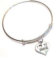 08f3ce8fc 12pcs lot I love to Dance bracelet Charm bangles adjustable Jewelry Dance  Team Gifts Dance Sister