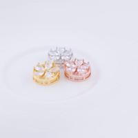 ingrosso fiore di cristallo fatto a mano del branello-Componenti di gioielli fatti a mano a mano all'ingrosso Componenti di lusso CZ Crystal Sun Flower Piccoli Charms Perline Connettori Bracciali Collana gioielli