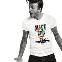Wholesale quick fixes - 100% Cotton Mens T Shirt Fashion Just Do It Letter Print T Shirts for Men Casual Short Sleeve Crew Neck T-Shirt Loose Fix Tops Tees