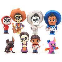 ingrosso set di anime figurines-Coco Movie 8 pezzi / set 6-9 cm Action Figure Modello Anime Mini Decorazione Collezione PVC Figurine Modello giocattolo per bambini