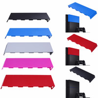 Wholesale console housing resale online - Color Housing Matte HDD Bay Cover Hard Disc Drive Cover Case Shell faceplate for Playstation PS4 Console DHL FEDEX EMS