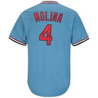 Wholesale jerseys - Men s Yadier Molina Light Blue Alternate Cool Base Player Jersey