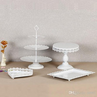 Wholesale cupcake stand for sale - Group buy Crystal Dessert Cake Stand For Wedding Birthday Party Decorations Holder Without Crystal Metal Iron Cupcake Display Rack New Style ds ZZ