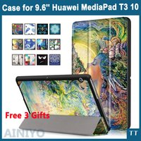 Wholesale-Case per Huawei MediaPad T3 10 AGS-L09 AGS-L03 9.6 pollici Cover Tablet per Honor Play Pad 2 9.6 Slim Flip PU + Film + Pen