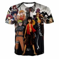 Wholesale funny anime t shirts - New Fashion Couples Men Women Unisex Anime One Piece Funny 3D Print Short Sleeve Harajuku Shirt T-shirt Top T68