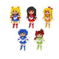 ingrosso blocchi per le ragazze-Mini Figure Blocchi LOZ Diamond Bricks Building Blocks Set Sailor Moon Toys Diamond Blocks Giocattoli educativi regalo per le ragazze