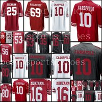 Wholesale foster jerseys - 49er jersey Men #10 Jimmy Garoppolo 25 Richard Sherman 16 Joe Montana 80 Jerry Rice 53 NaVorro Bowman 56 Reuben Foster Football Jerseys