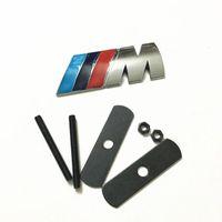 Wholesale m4 car - For BMW    M front gille grill emblem M badge sticker car metal decal M3 M4 M5