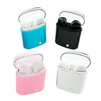 Wholesale universal colour - I7S Crystal Candy Colour Box TWS Twins Mini Bluetooth Earphones Pair With Charger Box Case Headsets In-ear Music Earbuds For iPhone Samsung