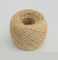 Wholesale Natural Decorative - 400meter 1mm Thin rope Natural Jute Twine Cord DIY Decorative Handmade Accessory Hemp Jute Rope For Papercrafting